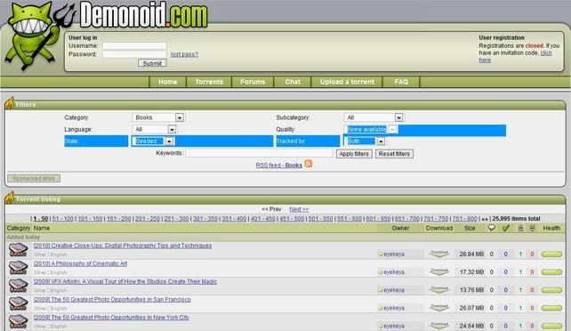 El tracker Demonoid cerrado por las autoridades ucranianas