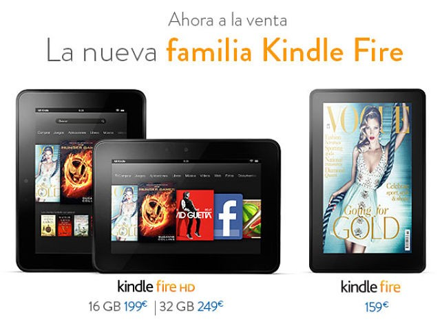 ¡El Kindle Fire HD ya disponible en España!