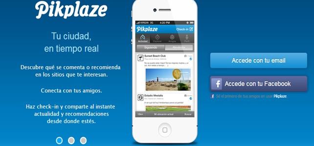 Pikplaze, una red social española para recomendar lugares