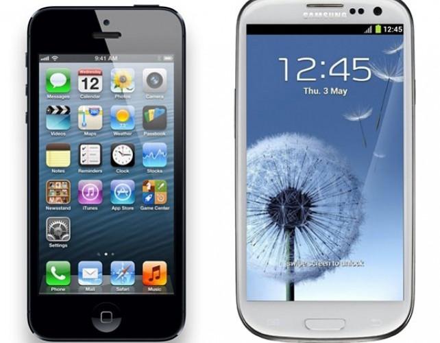 Comparativa entre el iPhone 5 y el Samsung Galaxy S III