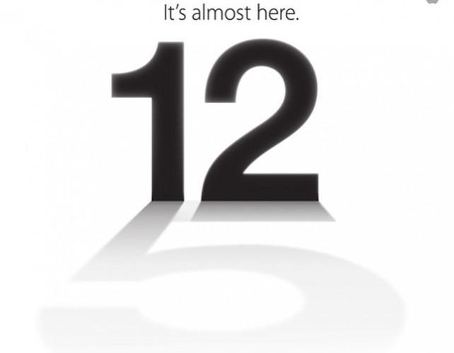 Ya es oficial: El iPhone 5 saldrá el 12 de Septiembre